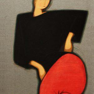 Портрет недоверчивой девушки. 2002. Х., м.