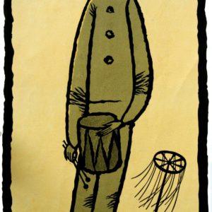 Белый клоун. 1985. Цветная линогравюра