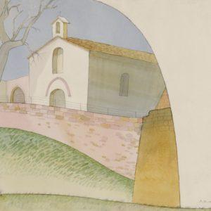 Церковь Святого Креста. Город Ассизи. 2012. Бумага, карандаш, акварель
