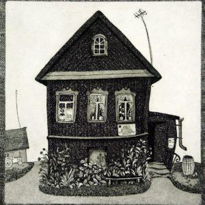 Дом ветерана. 1981. Офорт, акватинта