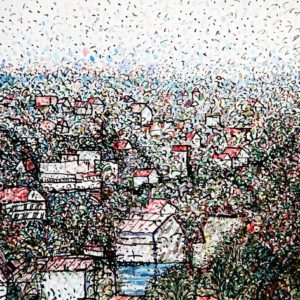 Город Мосс. Норвегия. Весна. 1992. Бумага, тушь, акварель